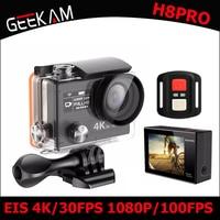 Geekam h8ro действие Камера Ultra HD 4 К EIS WI FI Спорт 360vr 1080 P 2 ЖК дисплей 170d широкий угол Водонепроницаемый шлем cam мини видеокамера