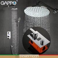 GAPPO shower faucets bathtub faucet LCD Digital Display shower set bath shower wall mount showers mixer taps