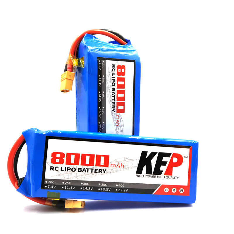Hight Power RC <font><b>Lipo</b></font> Battery 2S 3S <font><b>4S</b></font> 5S 6S 7.4V 11.1V 14.8V 18.5V 22.2V <font><b>8000mAh</b></font> 25C 35C For RC Helicopter Car Lithium-Polymer image