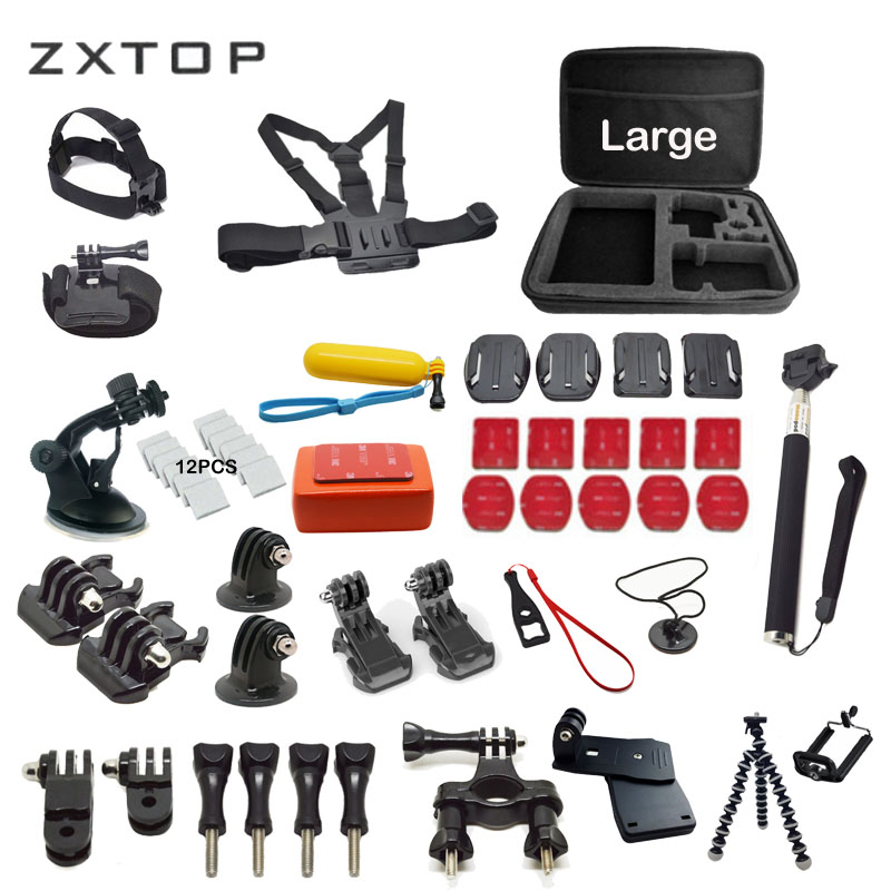 Kits para gopro accesorios set para Go Pro Hero 6 5 4 3 monopod para sjcam eken H9 H9R H8 h8R soocoo C30 S100 C100