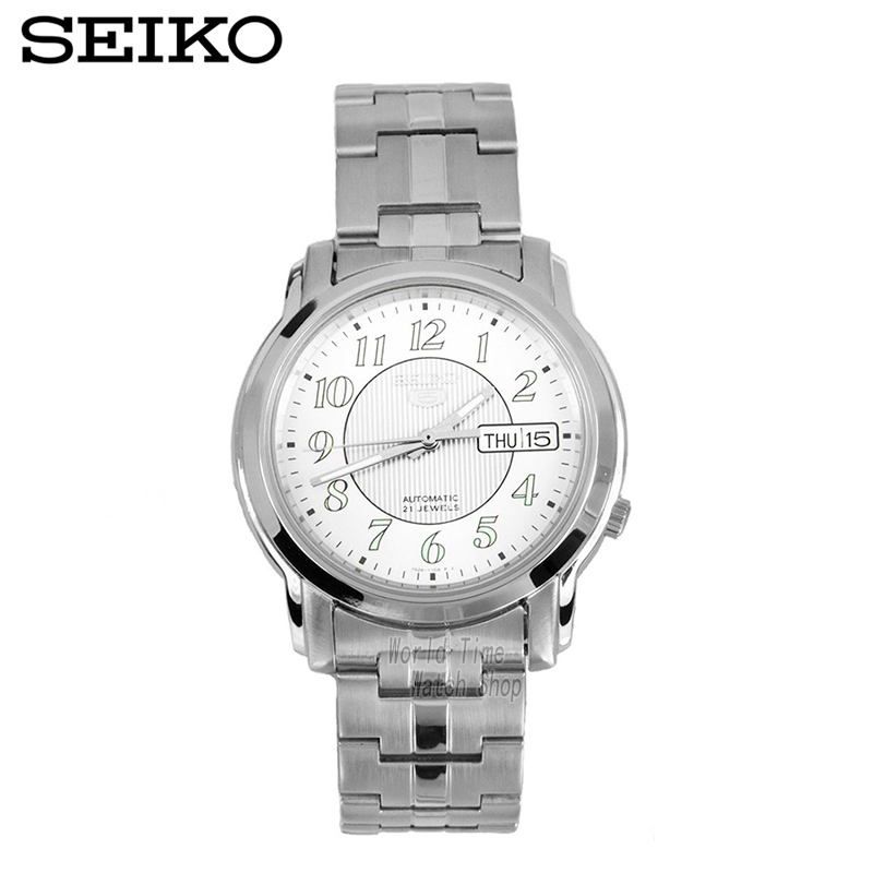 SEIKO Watch No. 5 Automatic Mechanical Watch Steel Strap Men 'S Watches SNKL89K1 SNKK33J1 cute marshmallow style silicone back case for iphone 5 5s yellow white