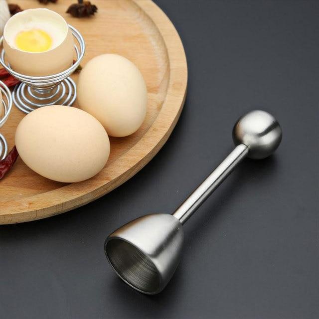 EZLIFE Egg Opener Creative DIY Egg Cutters Stainless Steel Egg Opener Raw Cracker Separator Egg Opener Kitchen Tool Accessories 2