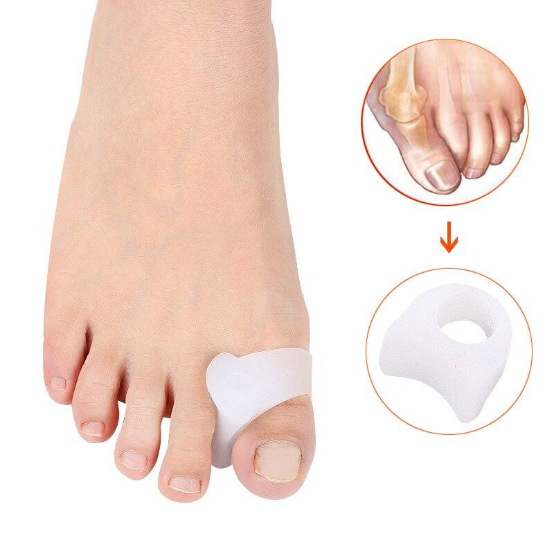 2Pairs Silicone Big Toe Separator Bursitis Thumb Bunion Hallux Valgus Corrector Toe Protector Foot Pedicure Fingers Separators