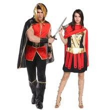 Umorden Halloween Party Holiday Costumes Men Women Roman Greek Soldier Warrior Gladiator Cosplay Costume Dresses for Couple