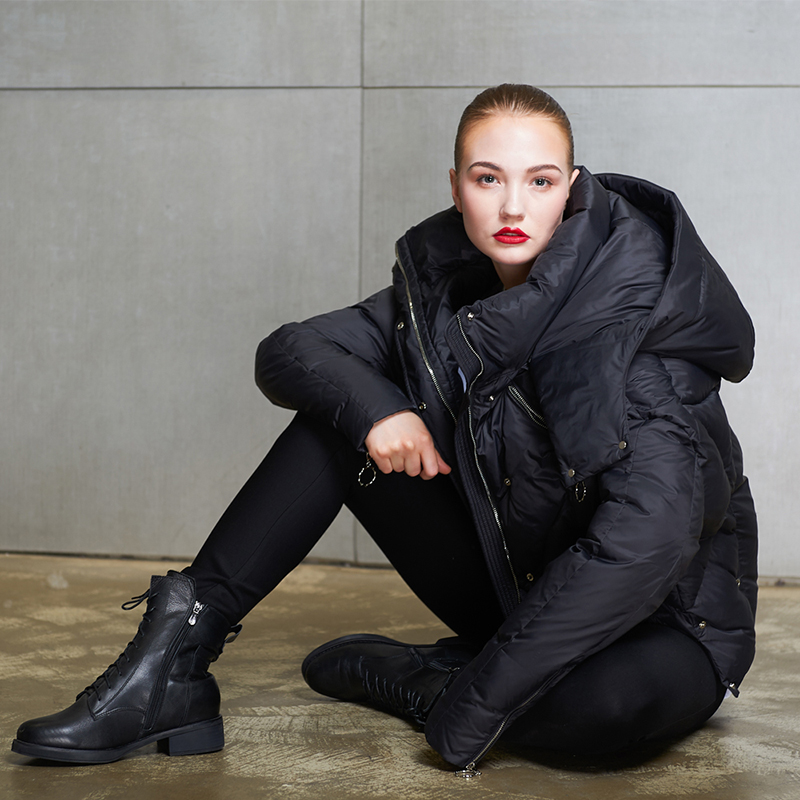 90% duck   down     coat   2019 fashion brand bat sleeve   down   jacket female winter sizpper luxury hooded thicker warm   down     coat   wj2592