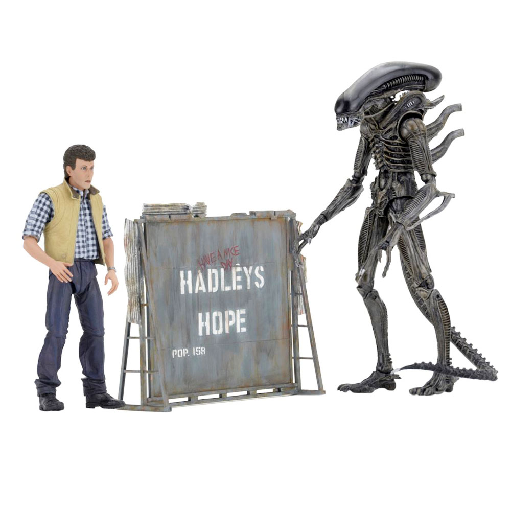 Movie Aliens Carter J.Birke & Xenomorph Warrior NECA 2 Pack Action Figure Free Shipping фигурка planet of the apes action figure classic gorilla soldier 2 pack 18 см