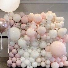 10 18 36 inç büyük Pastel balonlar bebek duş dekorasyonu acıbadem kurabiyesi balonlar Blanc düğün doğum günü Globos lateks hava balon S6XZ