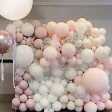 10 18 36 inch Grote Pastel Ballonnen Baby Shower Decoratie Bitterkoekje Ballons Blanc Bruiloft Verjaardag Globos Latex Luchtballon S6XZ