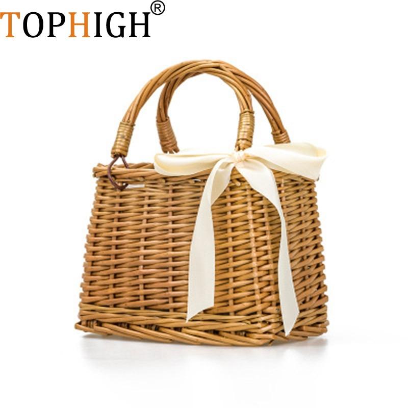 Donne Color Tessuto Rattan Natural Holiday Paglia Beach Carrello Del Della Sacchetto Cestino Bag Delle Di Borsa ZgPxcw5