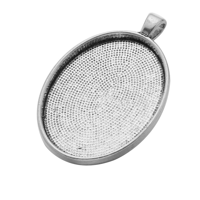 10pcs/lot 30x40mm Pendant Blank Settings Cabochons Bases Bezel Trays Fit Glass Cabochon Cameo DIY Fashion Necklace 10pcs stainless steel pendant settings clasps cabochon base bezel trays blank fit 6 8 10 12 14 16 18 20mm cabochons cameo diy