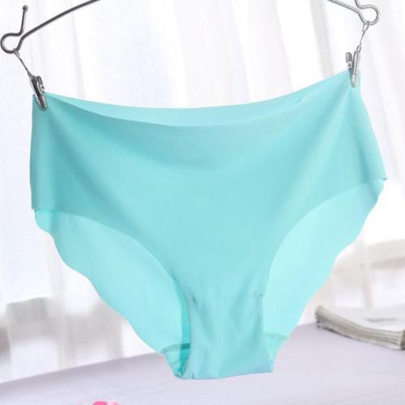 2018 Cosy Solid Colour Women Sexy Invisible Seamless Soft Thong Lingerie Briefs Hipster Underwear   Panties