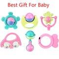 6pcs/set Baby Rattles New Lovely Plastic Children Hand Shake Bell Ring Baby Rattle Toys Baby Educational Toy Best Gift For Kids