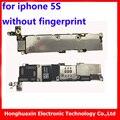 Para iphone 5s 32 gb originais motherboard sem impressão digital desbloqueado mainboard logic board placa de sistema ios de função completa