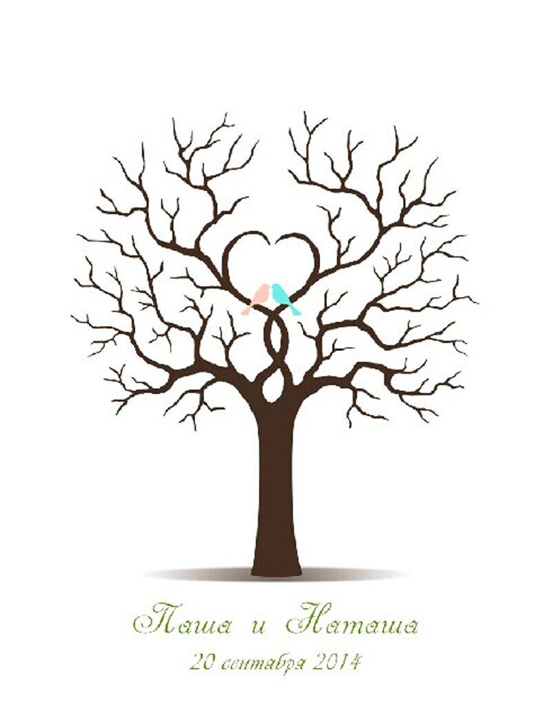 Da sposa stampe personalizza albero di impronte digitali for Stampe di fattoria gratis