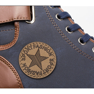 Image 4 - Oudiniaoメンズ靴カジュアルデザイナースニーカー男性靴高トップカジュアル2019ビッグサイズのメンズカジュアル靴秋のファッションスター