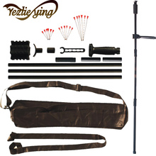 лучшая цена Black Blow Gun Suit Comfort Grip Aluminum Alloy 60 Inch with Junction Tube 50 And 18 Metal Needles for Hunting and Shooting