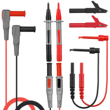 Multimeter Probe Clamp Test Leads Wire Pen Cable Multimeter Test Lead kits +Alligator Clips Needle Tip Feeler Lead Kits
