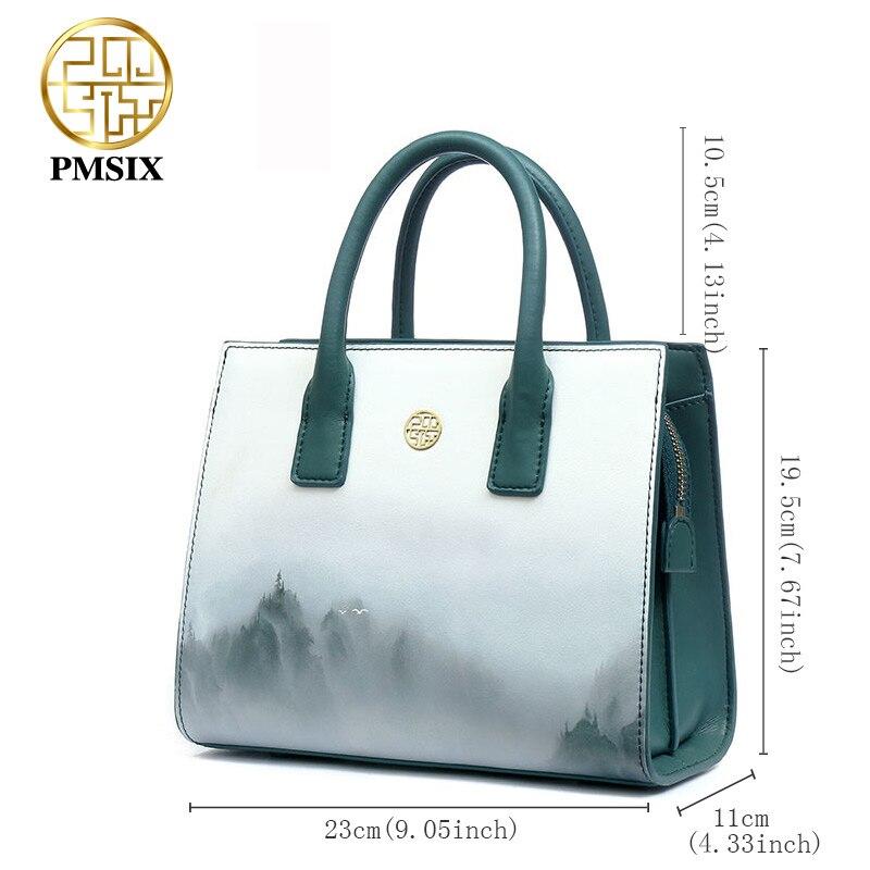 Gray Conception Luxe À Vent 2019 Main De Split P220050 Sac Chinois Printemps En D'été Épaule Femmes Impression Pmsix Designer Cuir Sacs pYFRqF