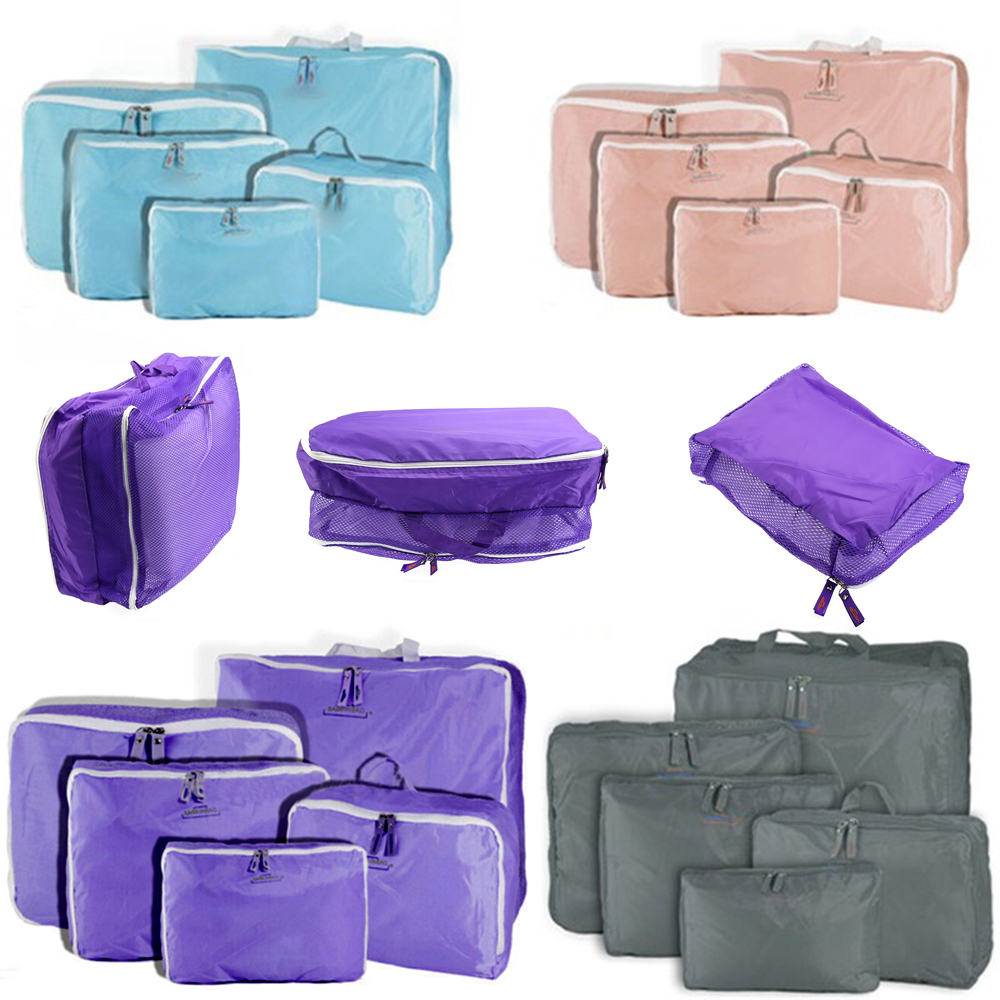db9792dcc2dd Detail Feedback Questions about 5pcs Set Waterproof Clothes Storage Bags  Packing Cube Travel Luggage Organizer Bag on Aliexpress.com