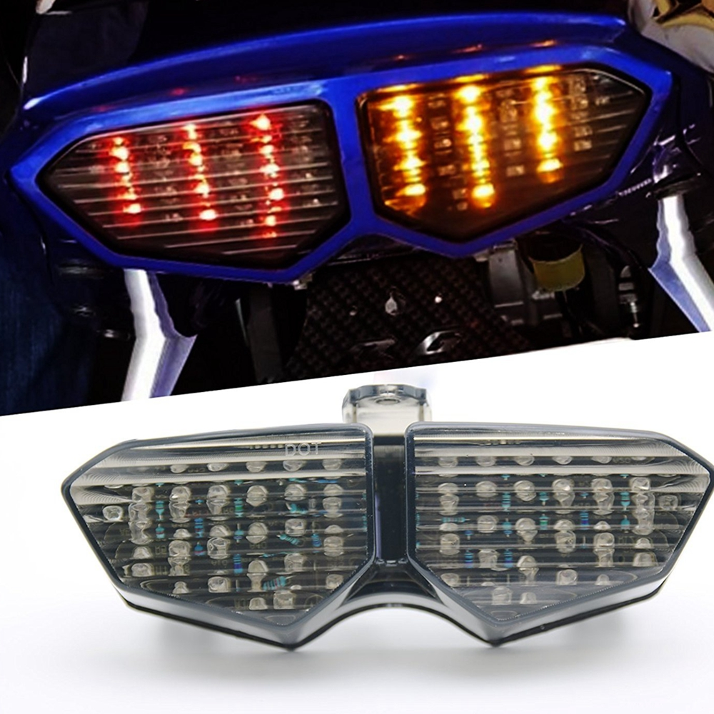 Smoke / Clear Motorcycle LED Brake Tail Light Turn Signal TailLight Case For Yamaha YZF R6 2003 2004 2005 / R6S 2006 2007 2008 for yamaha yzf r1 yzf r6 motorcycle accessories blinker led turn signal indicator light clear