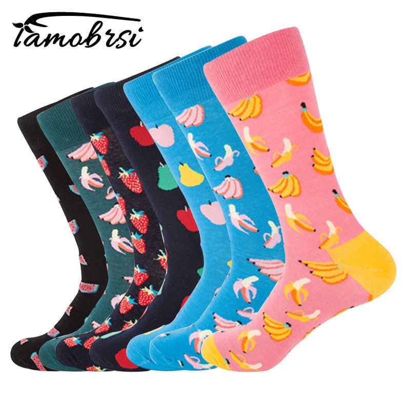 da1b5d8bc2e Fruit Banana Watermelon Socks Funky Colorful Cool Socks Happy Man Loafer  Thermal Cotton Men Funny Socks