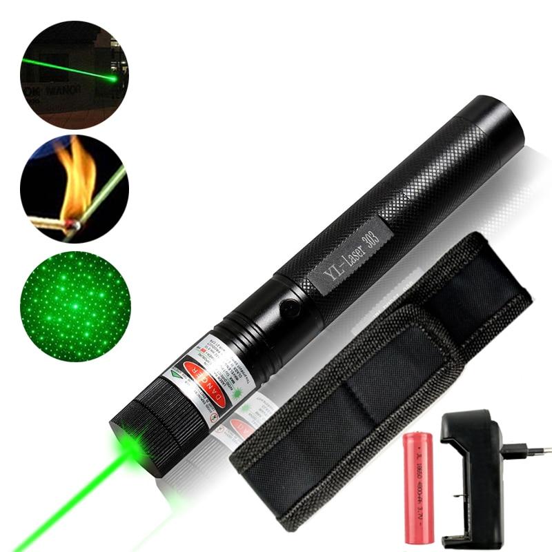 8000-10000M Potente puntero láser verde 5mw Militar 532 nm Red Lazer - Caza - foto 1