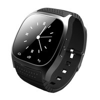 Smartwatch impermeable m26 bluetooth smart watch con led p25 alitmeter reproductor de música podómetro para android teléfono inteligente