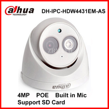 Dahua Digital IPC-HDW4431EM-AS Security IP Camera 4MP Network Dome Camera POE DH-IPC-HDW4431EM-AS Surveillance Built in Mic