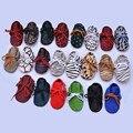 Натуральная Кожа Детская обувь Первые Walkers крытый Замши на шнуровке Конский волос Кожаные Детские Мокасины Мягкое дно новорожденных Bebe обувь