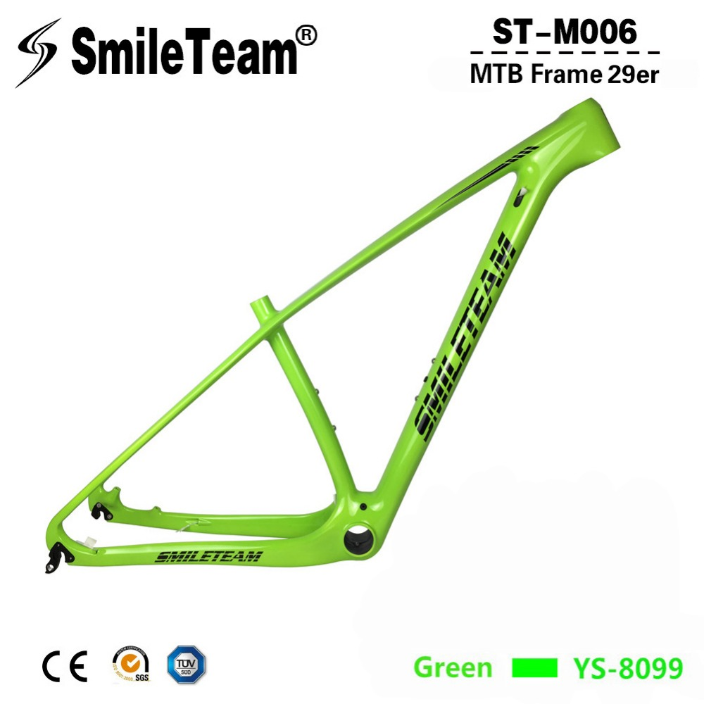 SmileTeam 27.5er 29er Carbon MTB Frame 142*12mm Thru Axle Carbon Mountain Bike Frame 650B UD Glossy 135*9mm QR Bicycle Frameset smileteam new 27 5er 650b full carbon suspension frame 27 5er carbon frame 650b mtb frame ud carbon bicycle frame