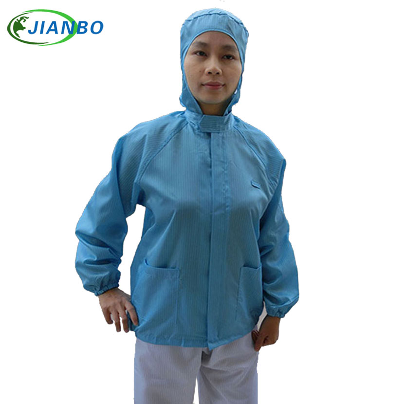 Protective Overalls Safety Clothing Anti Static Hooded Jacket Food Cleanroom Workshop Mens ESD Dustproof Work Clothes Wholesale 500 grams about 750pcs milky latex rubber powder free working protective finger sets anti cutting cleanroom esd work gloves