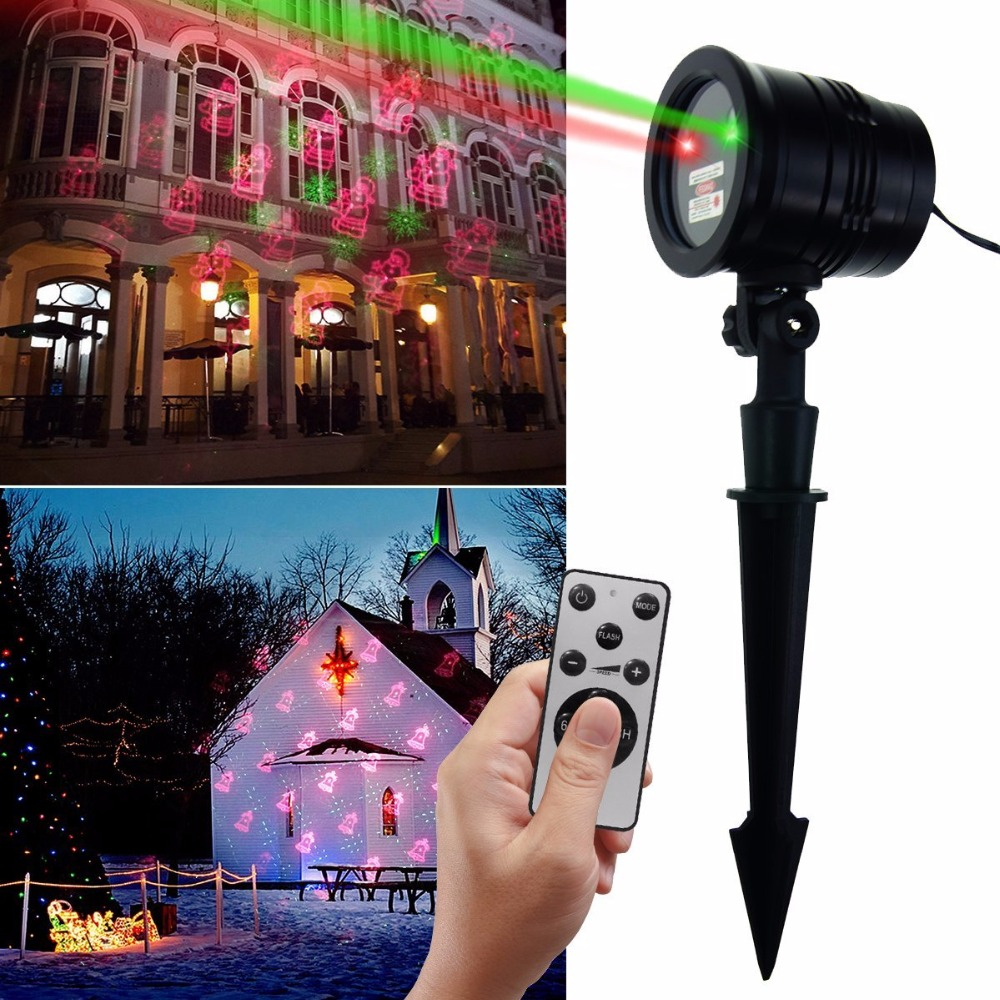 IP65 Christmas Laser Lights Projector Outdoor Landscape LED Projection Light with Wireless Remote Decorative for House, Holiday цена и фото