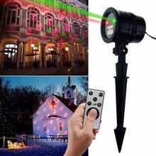 Boże Narodzenie Światła Laserowego Projektora IP65 Na Zewnątrz Krajobraz Projekcji Światła LED z Bezprzewodowym Pilotem Dekoracyjne do Domu, wakacje