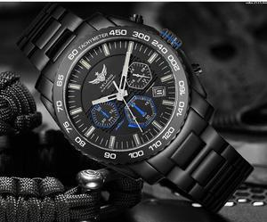 Image 4 - Yelang Men Kinetic Watch Solar Power Drive Tritium Light T100 Japan Movement WR100M Sapphire Date Energy Display Military Quartz