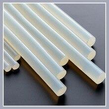 Термоклеевые стержни 7 мм/11 мм, полупрозрачные прочные вязкие стержни для клеевого пистолета, термостойкие, термоклеевые 10 шт