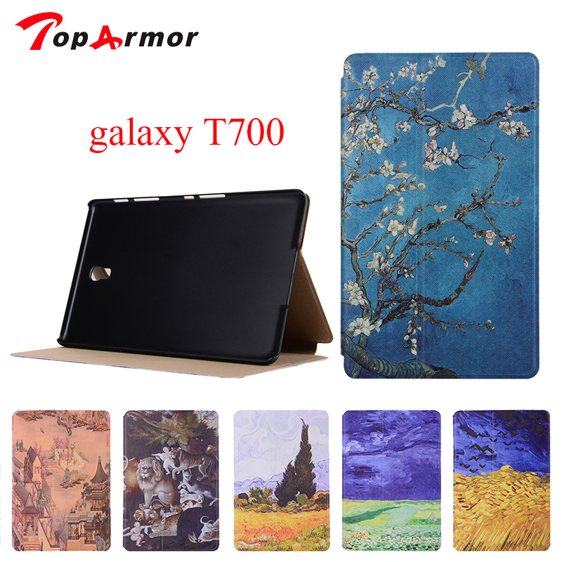 TopArmor Fashion Pattern Wallet Flip PU Leather For Samsung GALAXY Tab A 10.1 P580 P585 SM-P580 SM-P585 Case Tablet Back Cover аксессуар чехол samsung galaxy tab a 7 sm t285 sm t280 it baggage мультистенд black itssgta74 1