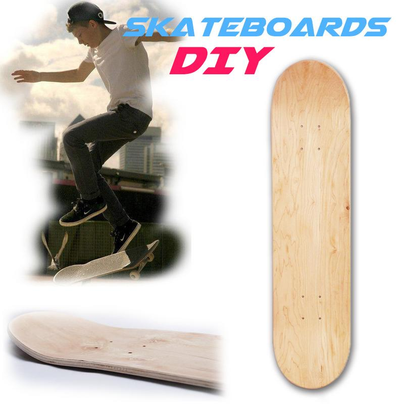 PROPRO 8inch 8-Layer Maple Blank Double Concave Skateboards Natural Skate Deck Board Skateboards Deck Wood Maple