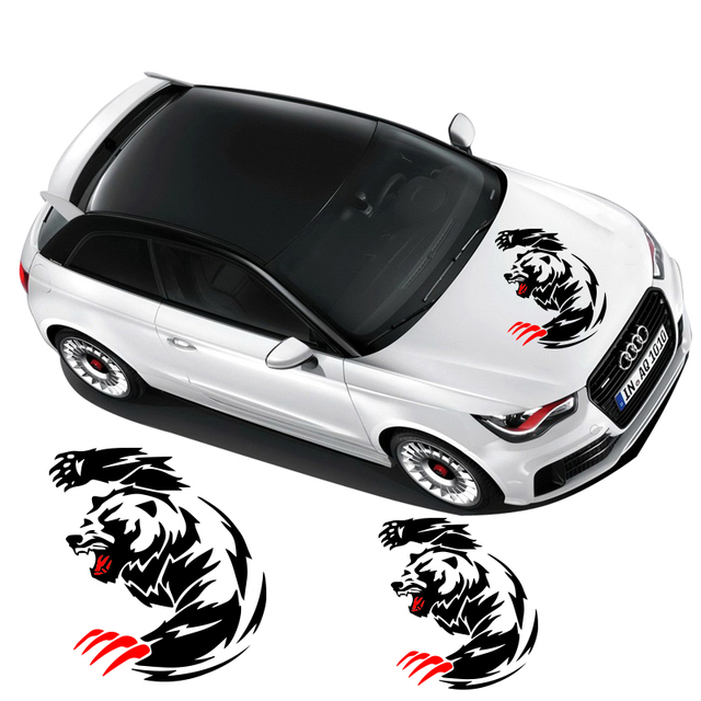 Cool tiger and claw design animal stickerdie cut reflective car window and hood decor