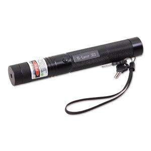 Image 3 - Grün/Rot Laser Pointer 532nm 5 mW 303 Laser Stift Einstellbare Starry Kopf Brennen Spiel lazer Mit 18650 Batterie + ladegerät