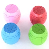 4Pcs Different Colors Kong Ming Lock Intellectual Smart Toy Barrel Shape Interactive Toys Meaningful Gifts For