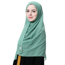Arab Chiffon Scarf Hijabs Muslim Women Diamonds Attire