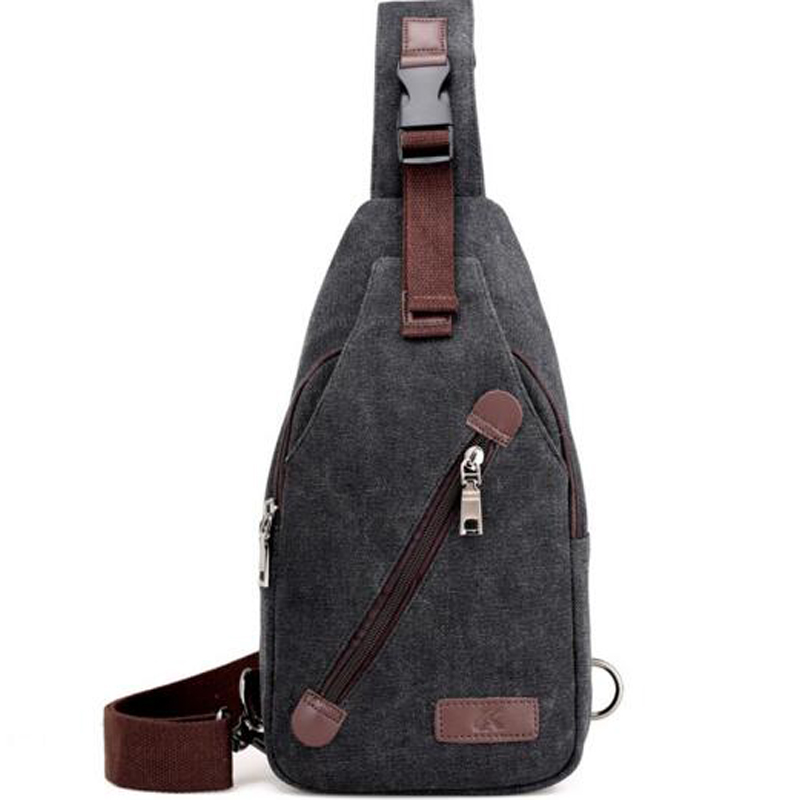 Crossbody Bags for Men Messenger Chest Bag Pack Casual Bag Waterproof Canvas Single Shoulder Strap Pack New Fashion