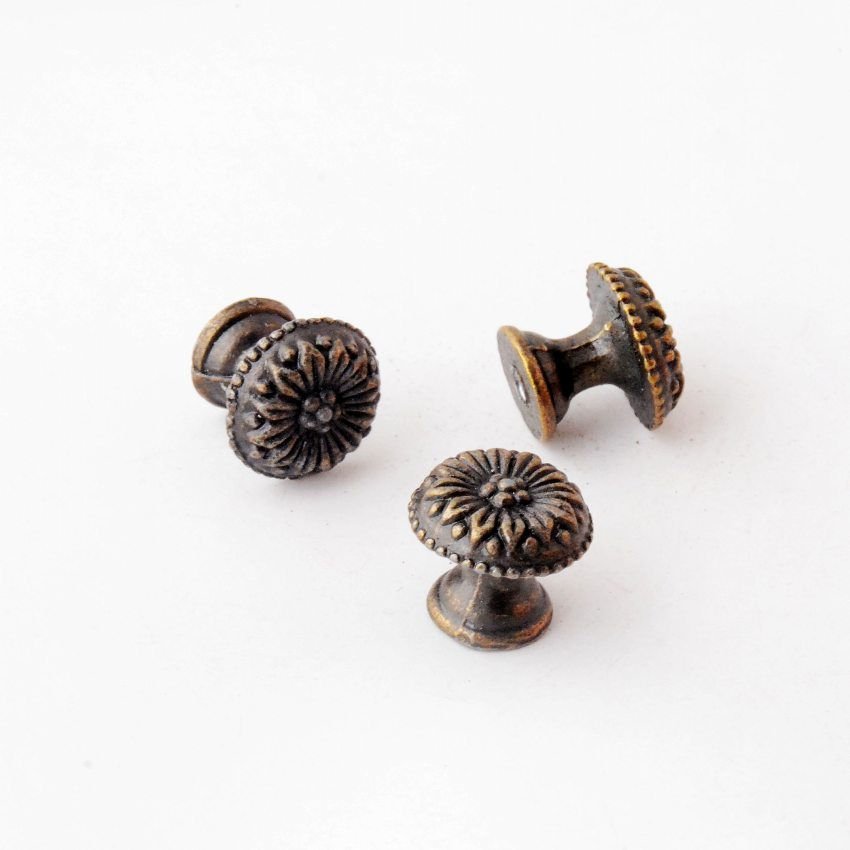 Free Shipping 8PCs Jewelry Wooden Box Pull Handle Dresser Drawer For Cabinet Door Round Antique Bronze 17x15mm J3027