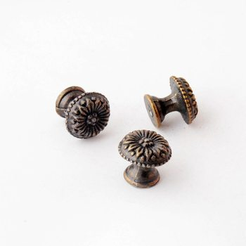 Free Shipping 8PCs Jewelry Wooden Box Pull Handle Dresser Drawer For Cabinet Door Round Antique Bronze 17x15mm J3027 - discount item  17% OFF Furniture Accessories