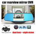 5 inch Car DVR Camera HD 1080P Dashcam Blue Rearview Mirror LCD Video Recorder Auto Registrator Camcorder new arrival