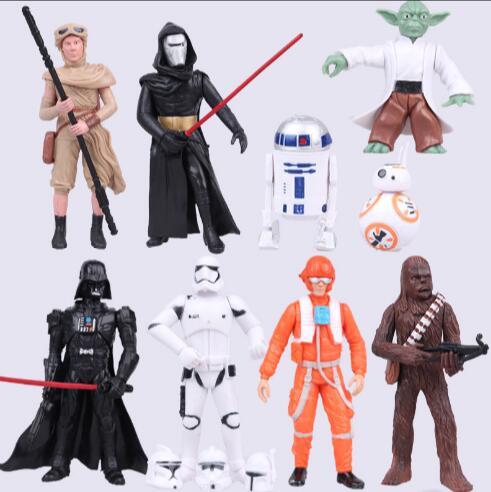 <font><b>Star</b></font> <font><b>Wars</b></font> Action <font><b>Figure</b></font> <font><b>Darth</b></font> Vader Stormtrooper <font><b>Darth</b></font> <font><b>Maul</b></font> Yoda Skywalker Toys PVC Anime <font><b>Star</b></font> <font><b>Wars</b></font> <font><b>Figure</b></font> Toy 4-12cm 9pcs/<font><b>set</b></font>