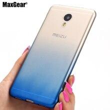 Для Meizu Meilan Note 2 3 Case Ультра тонкий Градиент Резина TPU Shield Case Для Meizu Meilan M2 Note/M3 Примечание Телефон Обратно крышка