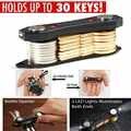 Nouvel organisateur de clé, peut contenir jusqu'à 30 pièces Kit de voyage porte-clé Simple Portable Anti-perte Clip Keybone keyting outils d'extérieur