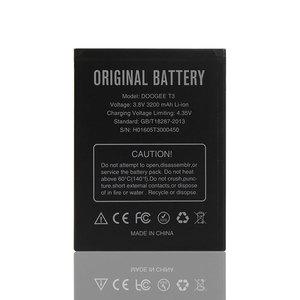Doogee T3 аккумулятор большой емкости 3200 мАч 100% Оригинальный Новый Сменный аксессуар Аккумуляторы для мобильного телефона Doogee T3