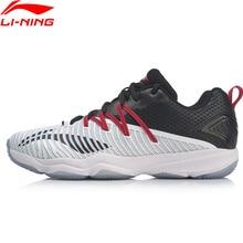 Li Ning Men RANGERTD แบดมินตันการฝึกอบรมรองเท้าสวมใส่สนับสนุนซับลื่นกีฬารองเท้ารองเท้าผ้าใบ AYTP015 SAMJ19